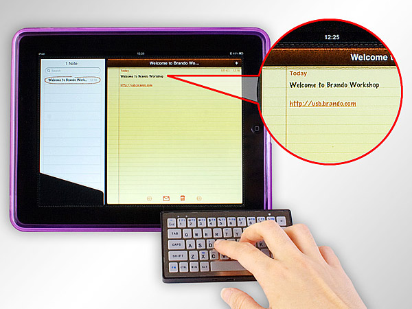 brando slim bluetooth keyboard 1