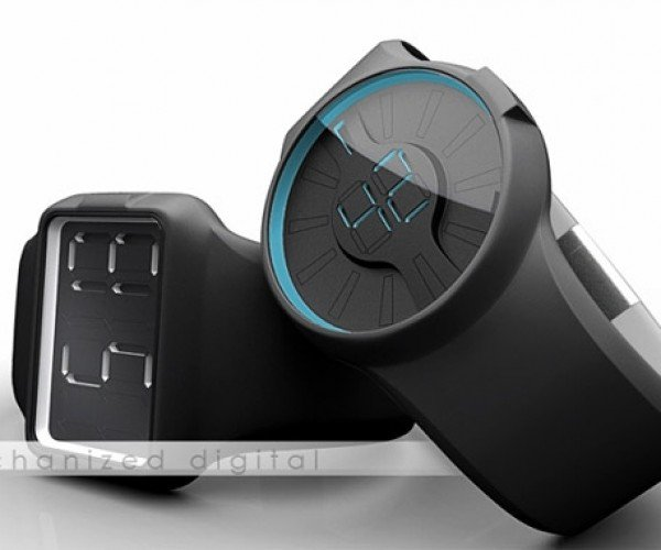 Mechanical 7-Segment Watch Concept Mashes Up Analog and Digital Worlds