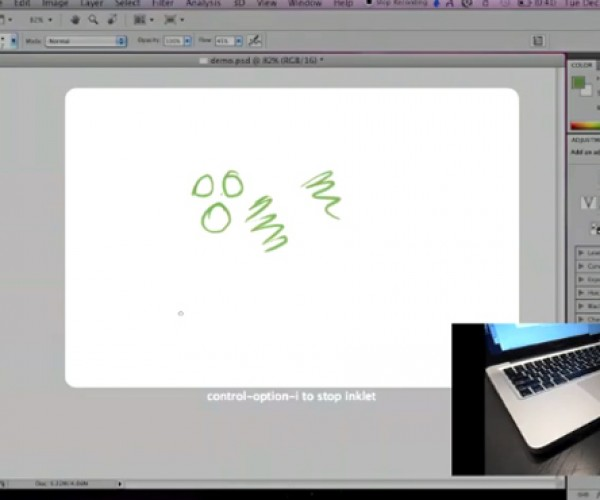 Inklet Turns Macbook Trackpad Into Pen Tablet