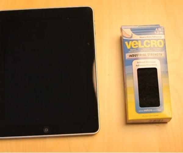 IPad + Velcro = Pure Genius