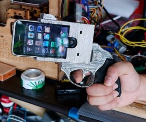 IPhone Revolver Holder: Put a Gun to Your Head Every Time the Phone Rings