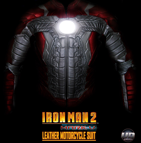 iron man mark v leather motorcycle suit