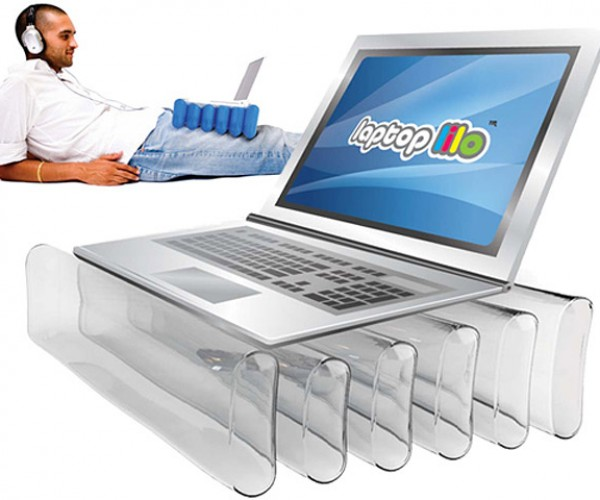 Laptop Lilo: Inflatable Laptop Stand Looks Comfy, Hopefully Not Melty