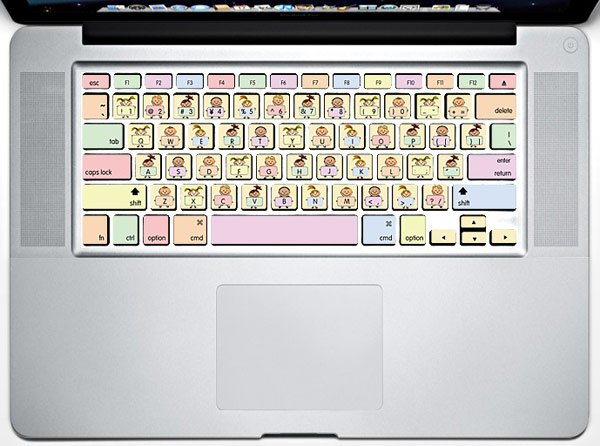 Macbook Keyboard Decals For Touch Typing Tweens