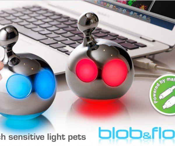 """Mathmos Blob and Flow """"Light Pets"""" have Glowing Eyes"""