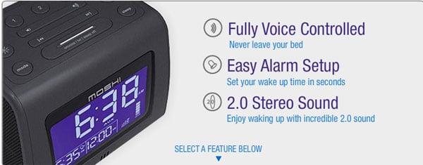 Moshi Voice Control Clock Radio