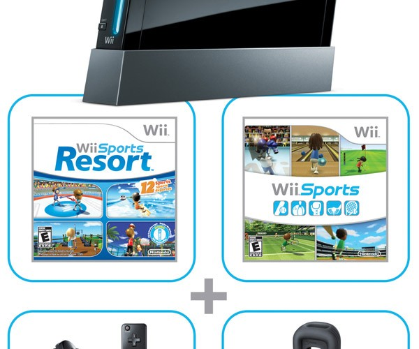 Nintendo Dates Black Wii for U.S., Adds Free Wii Sports Resort and Motion Plus