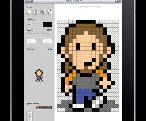 Sprite Something iPad App: Pixelicious