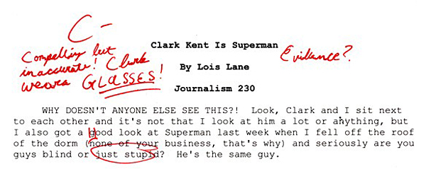 superhero term papers lois lane