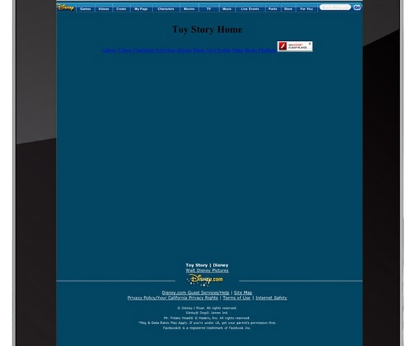 How a Flash-Heavy Website Looks Like on the iPad