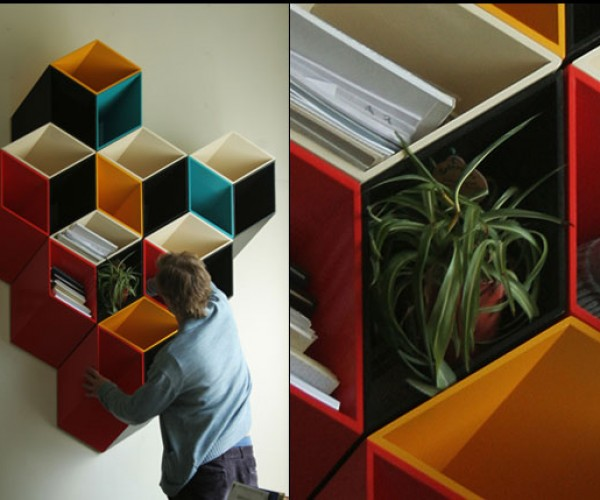 Optical Illusion Shelves Would Make Escher Proud