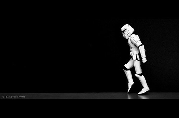 stormtrooper stormwalking star wars toys photos gareth payne