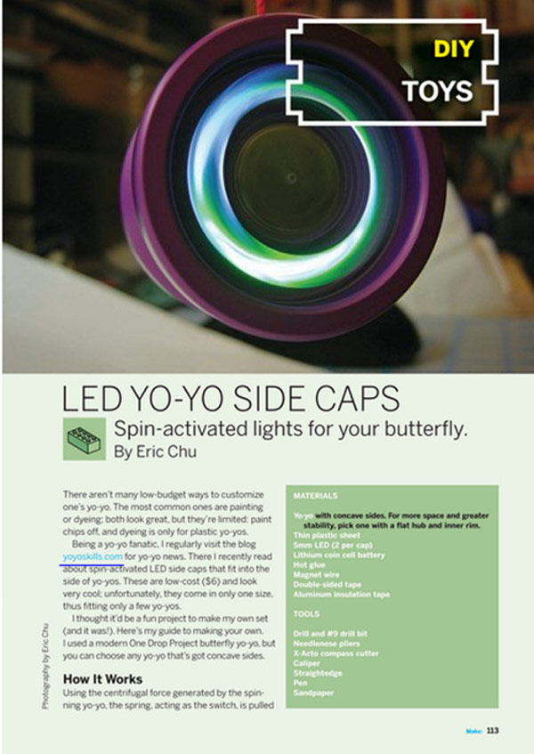 led diy make yo-yo spin toys fun