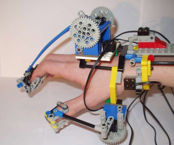 Robotic LEGO Hand Controller Mimics Wearer'S Moves Remotely