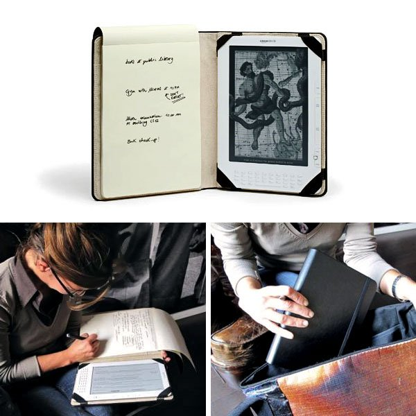 moleskine kindle cover notebook hack