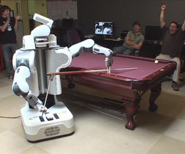 Robots Start Playing Pool and Hustling Humans