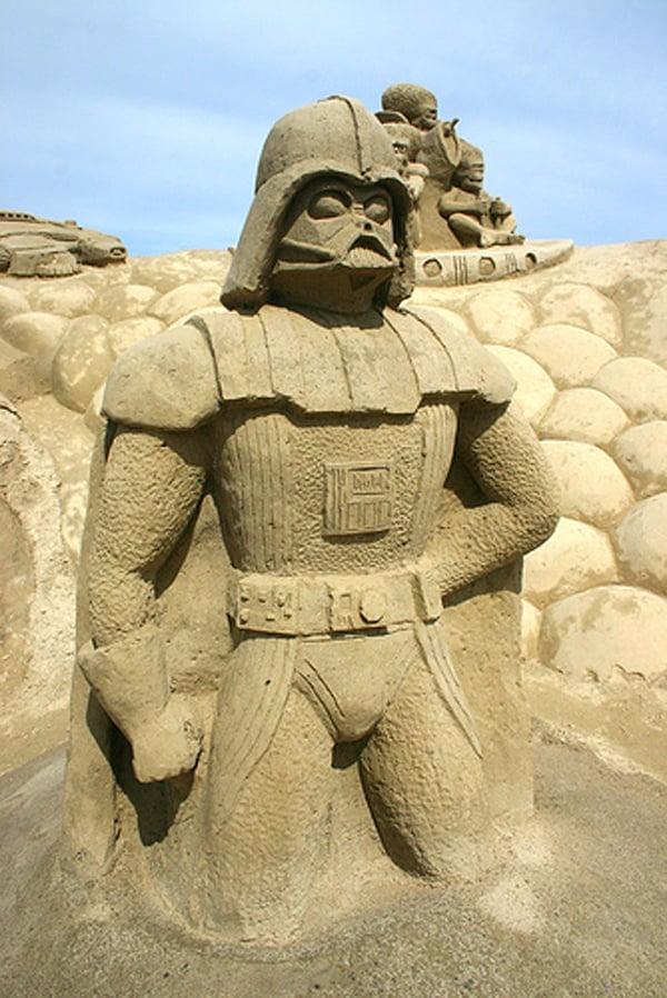 star wars sand castle sculptures darth vader