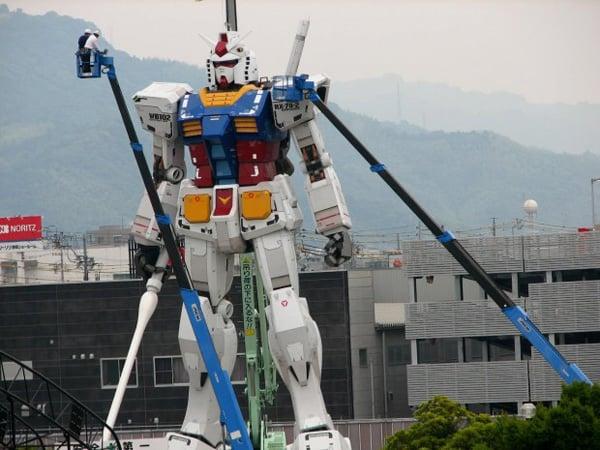 gundam japan statue rises again robots anime manga