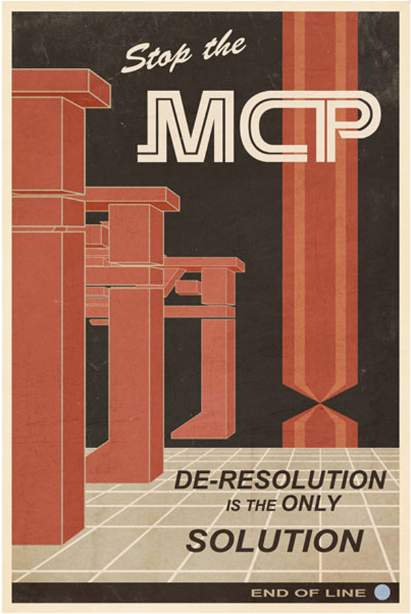 mcp tron video games retro posters think geek