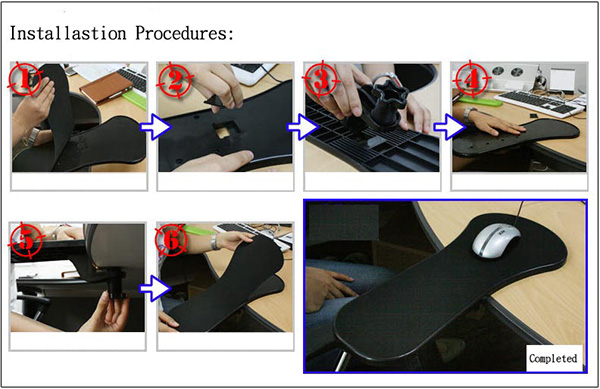 arm rested mouse pad 2
