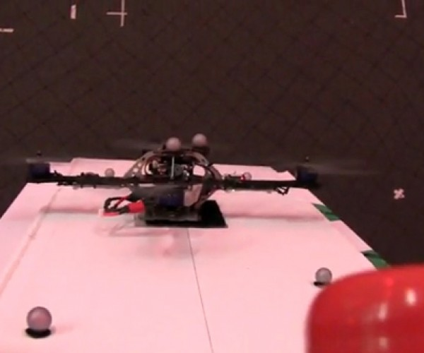 Quadrotor Drone Would be a Great Circus Performer. or Relentless Hunter.