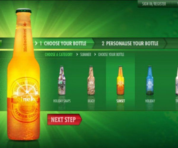 Build Your Own Beer Bottle With Heineken