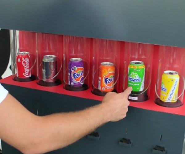 Friendly Vending Machine: have a Coke and a Smile