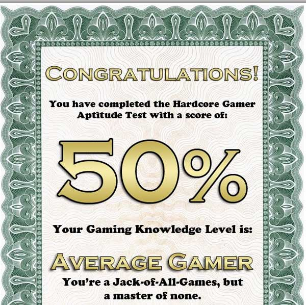 gamespy hardcore gamer aptitude test 2