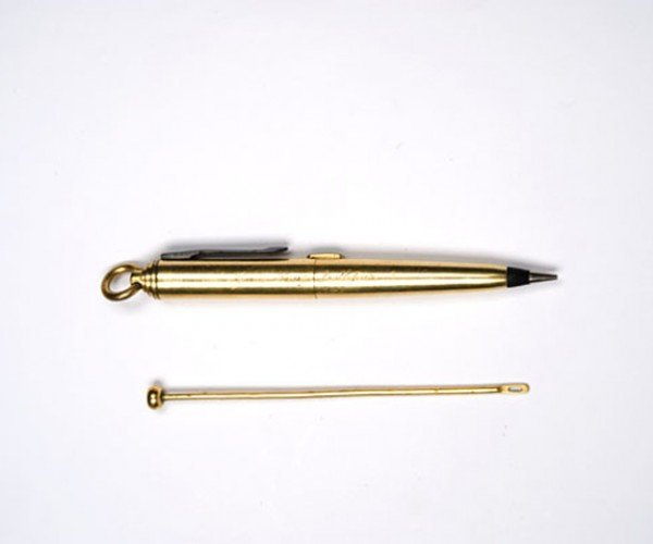 gold plated pencil pistol 2
