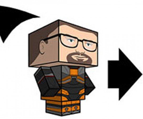 Gordon Freeman + Headcrab  = Best Papercraft Yet