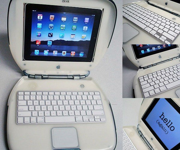 iBookPad: Clamshell iBook Turned Into iPad Dock
