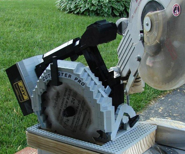 LEGO Circular Saw With Real Blade