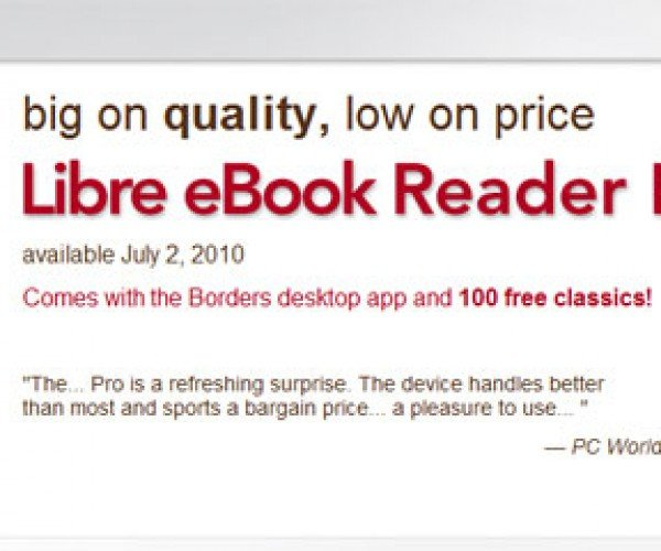 Borders Libre Ebook Reader Price and Release Date Announced