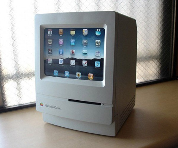 Mac Classic Makes Perfect Dock for iPad