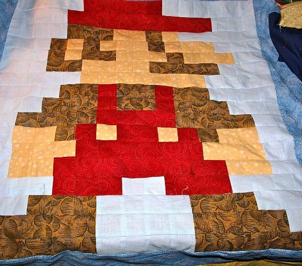 Custom Home Game Rooms Media Design By Jeff Paul Custom: Get 'Em Started Young With An 8-Bit Video Game Baby Quilt
