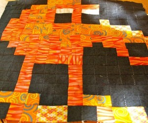 qbert crib quilt by geek unique 300x250