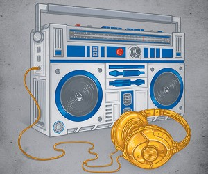 R2-Boombox and C-3headphones