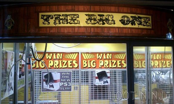 six flags texas claw machine ps3 prize 1