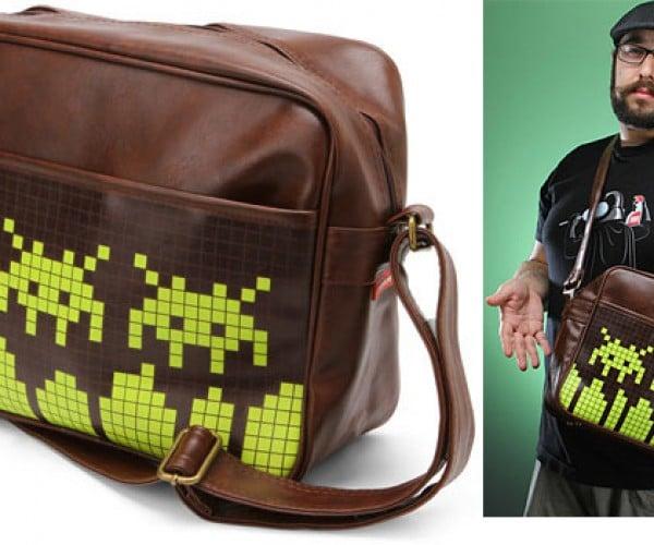 Space Invaders Messenger Bag Invades Your Shoulder