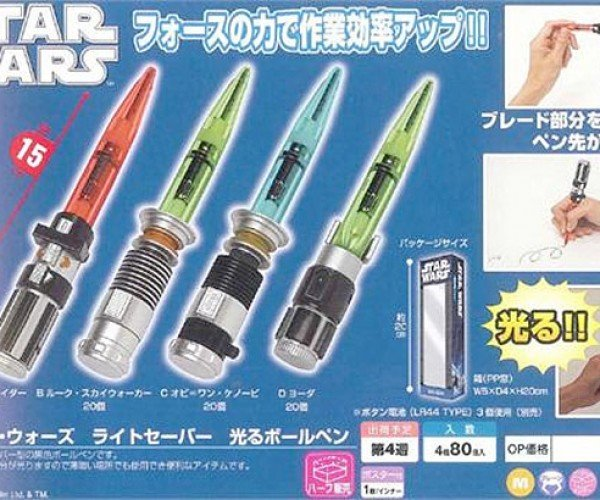 Star Wars Lightsaber Pens: Write With Light