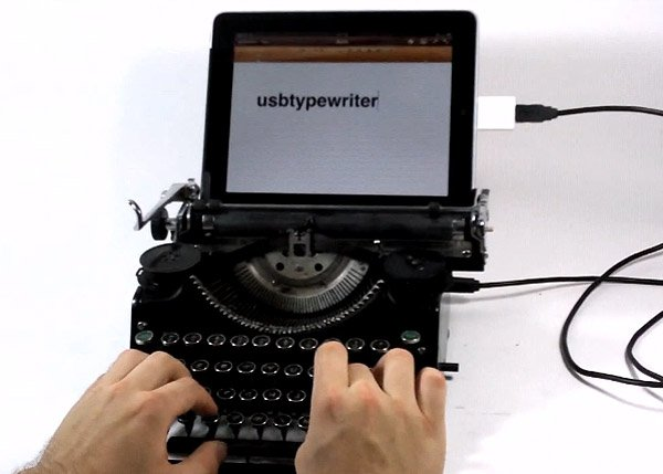 usb typewriter ipad