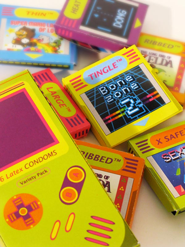 retro gaming condoms ilikedoodles