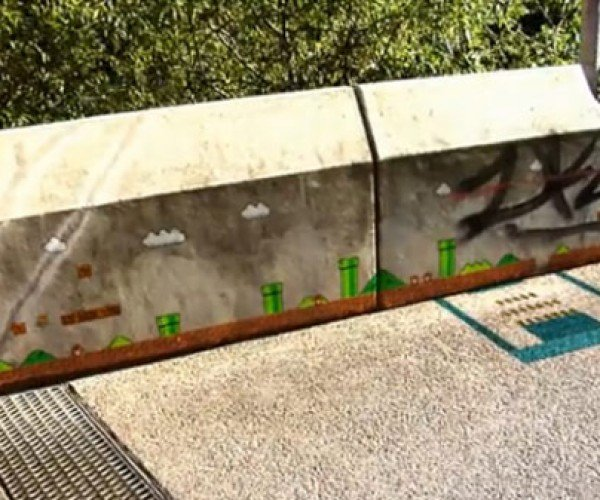 Super Mario Hits the Sidewalk