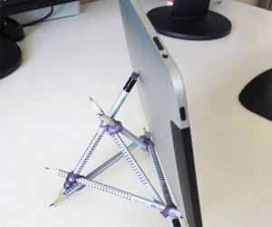 IPad Stand From Spare Office Supplies
