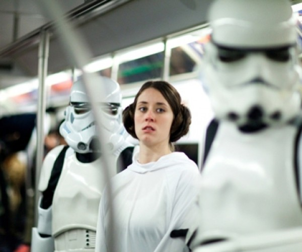Star Wars in a Subway Car: Next Stop, Death Star.