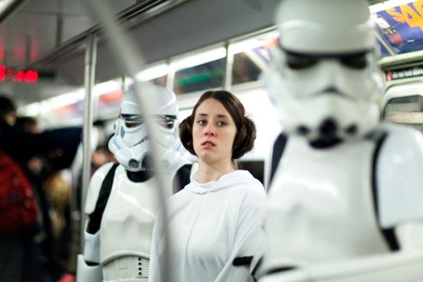 star wars subway darth vader improv