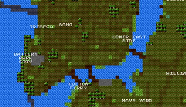 8-bit cities new york city maps