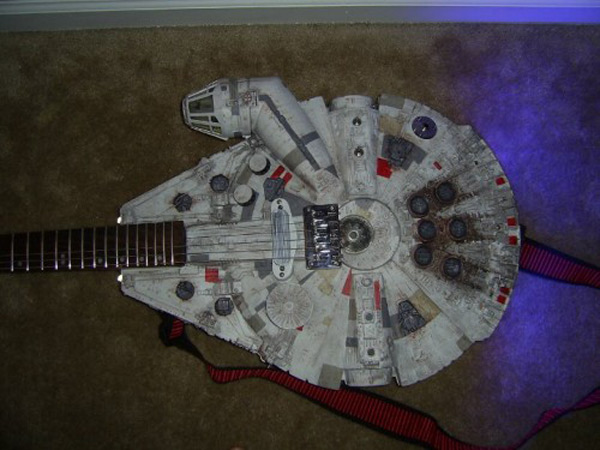 millennium falcon guitar star wars diy hack mod