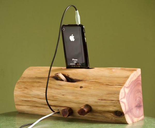 etsy iphone ipod dock wood speakers