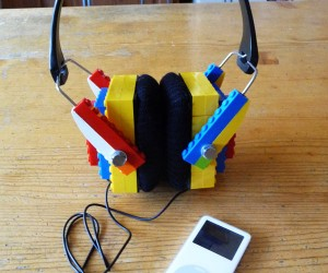 DIY LEGO Headphones: Hopefully They Won'T Fall Apart